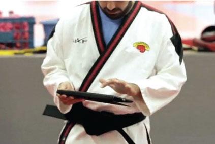 martial artists using martial arts software management