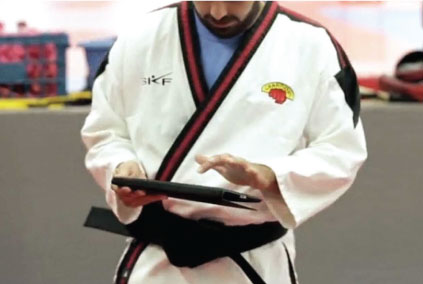 martial artists using martial arts software management