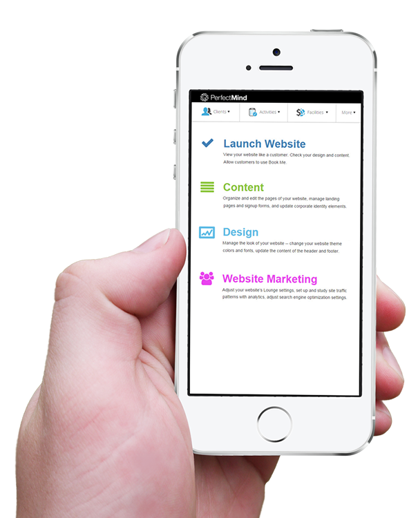 Mobile friendly software for easy access for landing pages and email