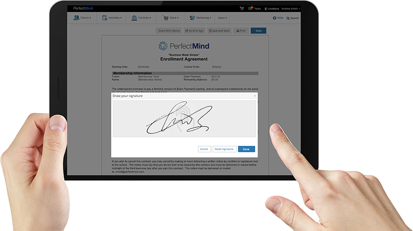 screenshot of online documents in member management software